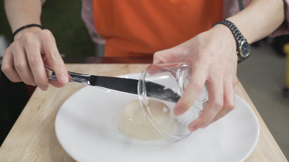 step 8 plate panna cotta