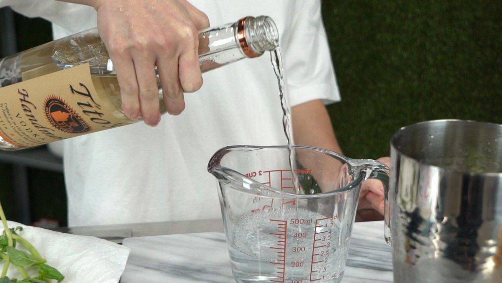 step 3 add 2 shots of vodka