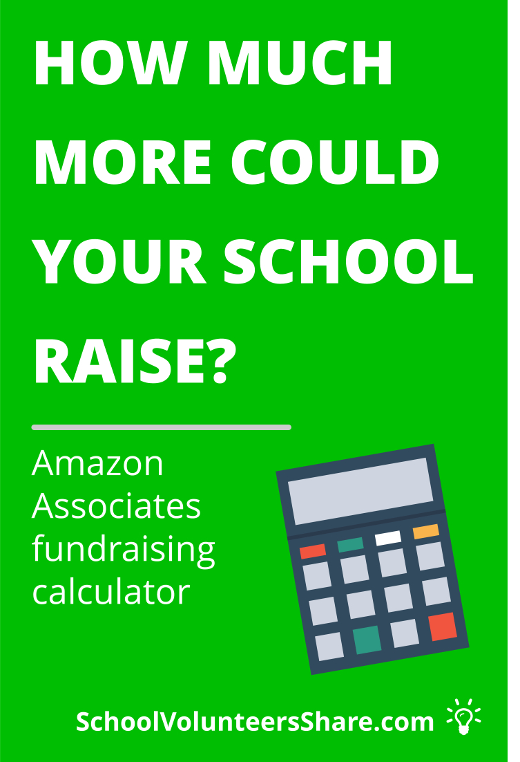 If your school / PTO / PTA non-profit group is already participating in AmazonSmile, you can use this calculator to figure out what your results could have been under the Associates Program. PTO fundraisers, PTA fundraising, fundraising ideas school, creative fundraising, easy fundraising, online fundraiser ideas, school fundraiser idea #PTO #SchoolVolunteersShare