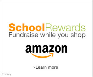 Examples of Amazon School Rewards banner ads available to schools participating in the Amazon Associates fundraising program.