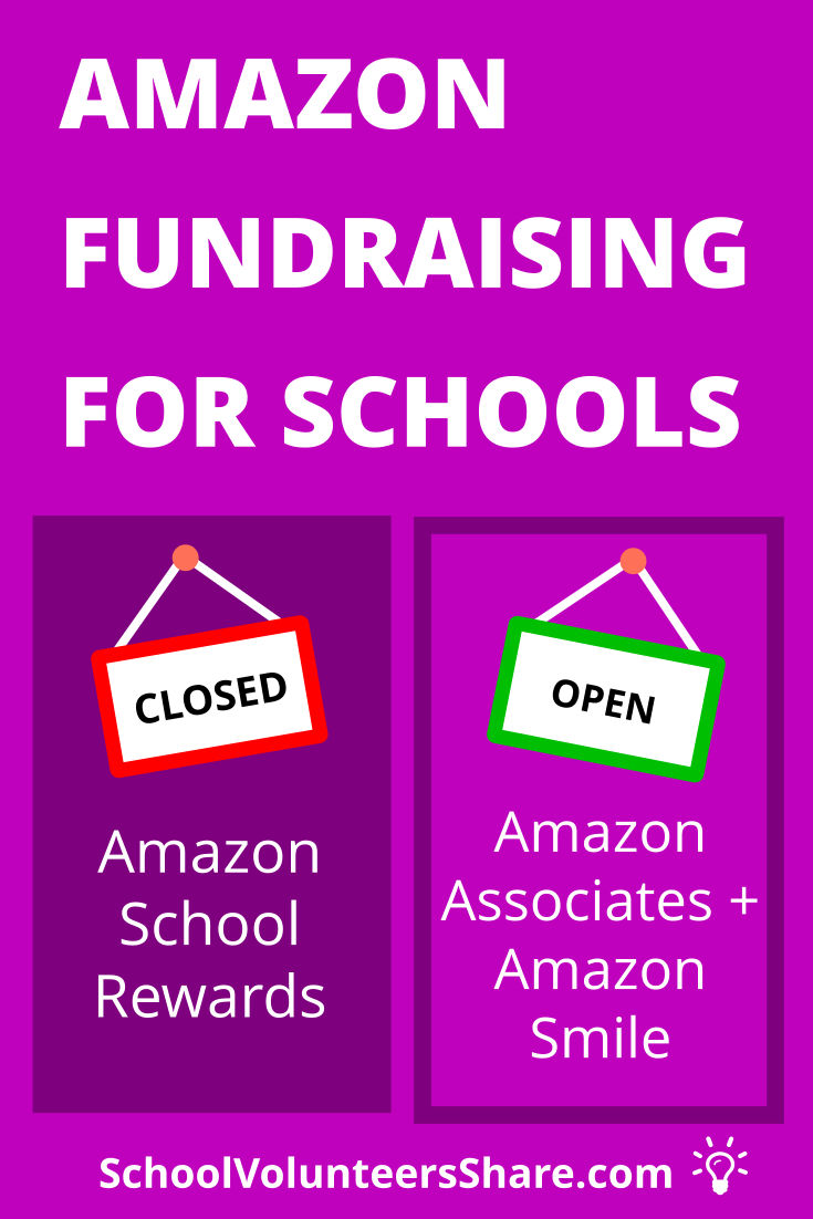 Amazon School Rewards was replaced by two online fundraising options for schools: Amazon Associates and AmazonSmile. LEARN HOW TO START AND GROW THE BEST AMAZON FUNDRAISER FOR YOUR SCHOOL. #PTO #SchoolVolunteersShare