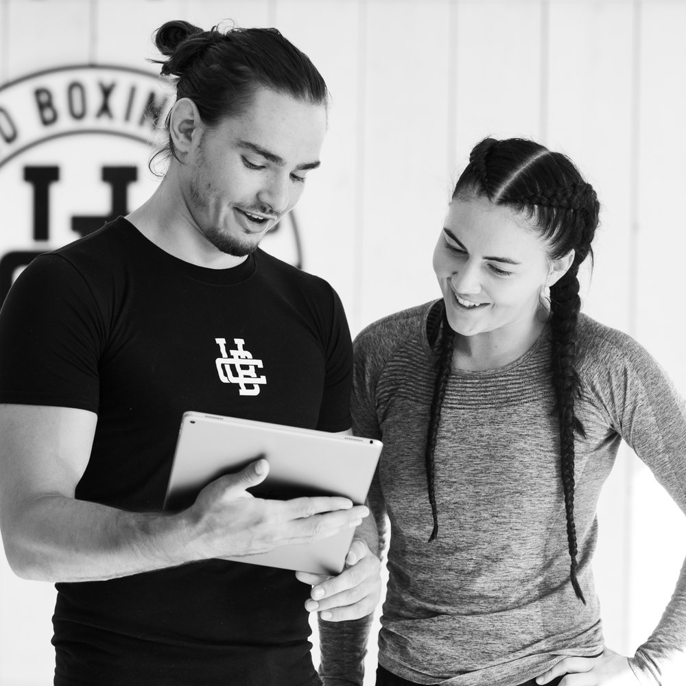 Receive plan - Based on your initial results, you will be given a custom training plan to follow, specific exercises to do, and the dates of mandatory workshops.