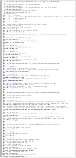 Quickstart Code