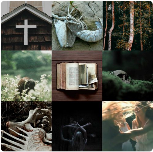 A #ThursdayAesthetic for Ashley's novel-in-progress, EVERY BONE A PRAYER.