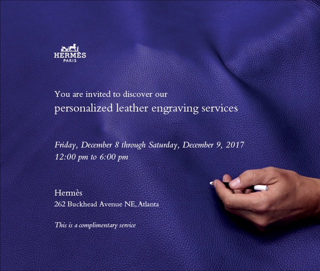 Hermès Atlanta - Personalized Leather Engraving Service - December 8+9[1].JPG
