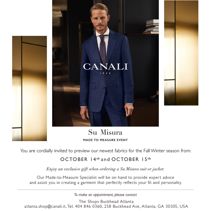 Made To Measure At Canali The Shops Buckhead Atlanta