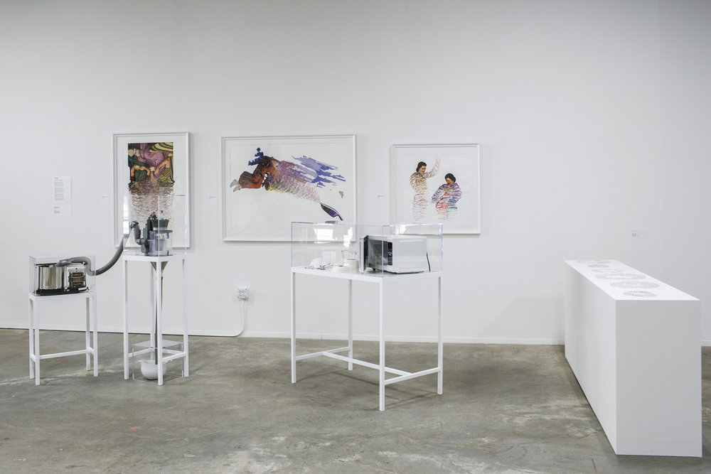 'Khandayati' exhibited at Design Show 2017, Block 37, Chicago, Illinois (May 2017)                                                                                                         Mixed media                                                                                                                                                                                 Photo Credit:  Ambika Singh