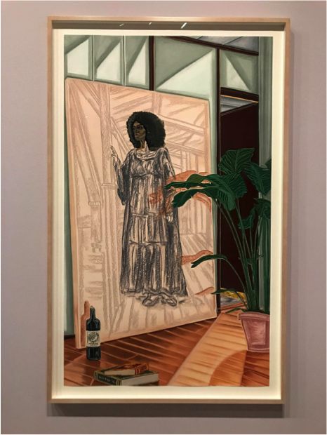 Toyin Ojih Odutola  , Unfinished Commission of the Late Baroness,   2017