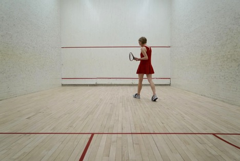 1. Enter squash court
