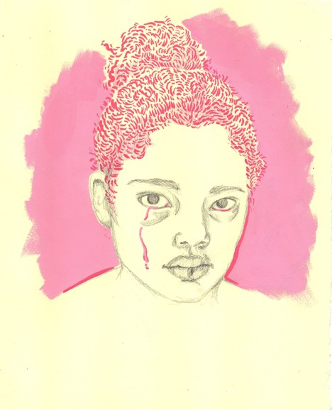 Untitled (Pink Tear) by Alanna Reeves
