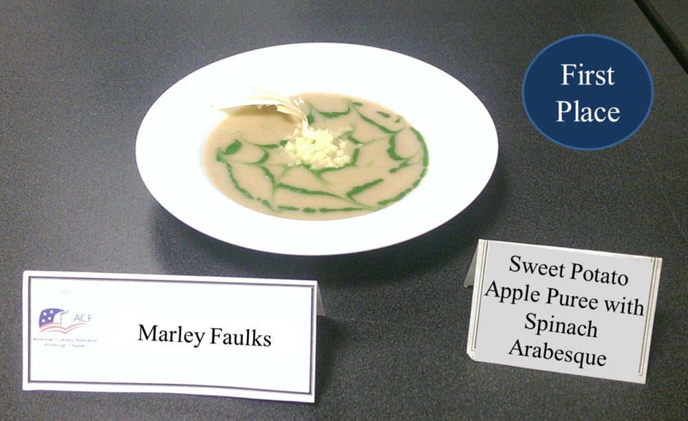 Marley Faulks's Sweet Potato Apple Puree with Spinach Arabesque - 1st place