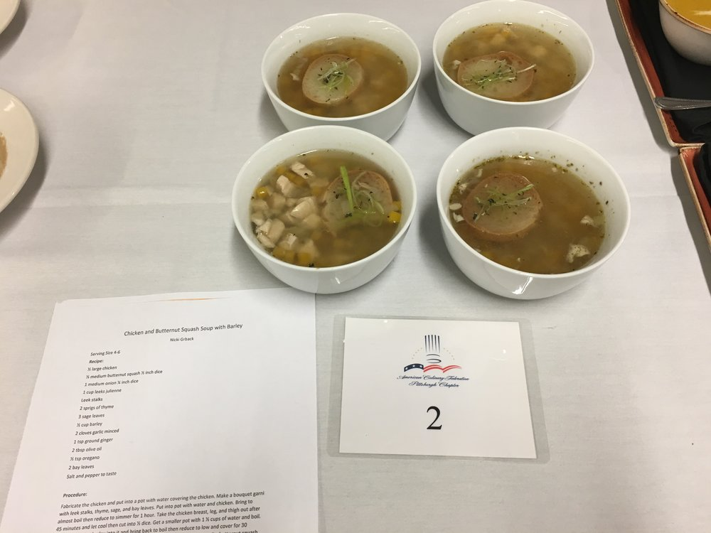 2nd place Nicole Grback's Chicken and Butternut Squash Soup with Barley.JPG