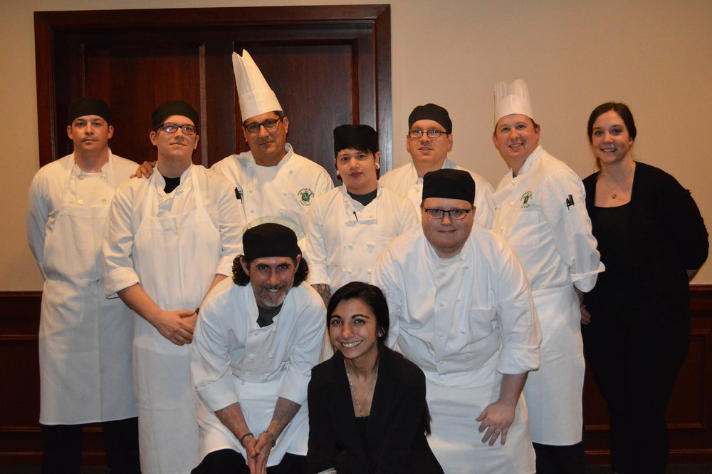 Chef Martin Thomas with the kitchen staff of Sewickley Heights Golf Club.JPG