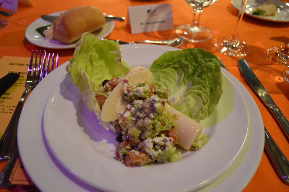 Heart of Palm, avocado salad with queso fresco, frijoles, sherry lime vinaigrette.JPG