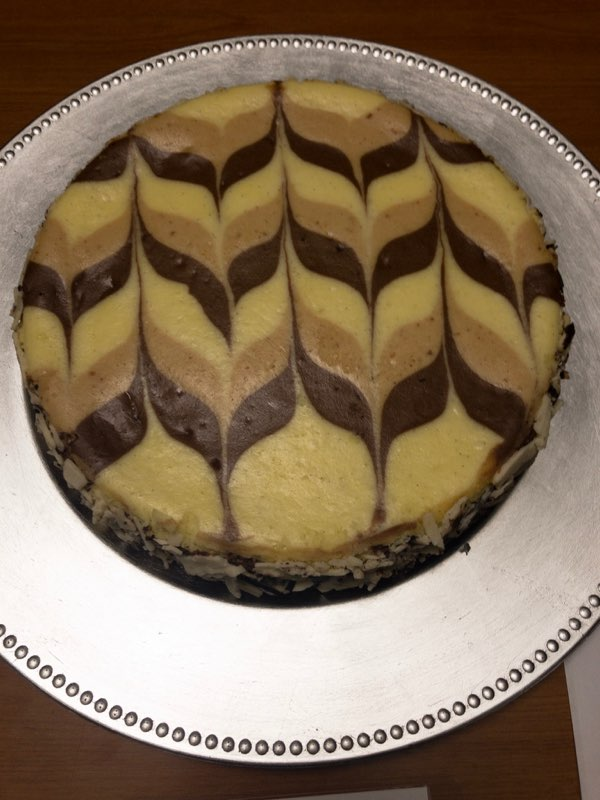 1st place: Ian McVaugh - Chocolate Dulce de Leche Cheesecake