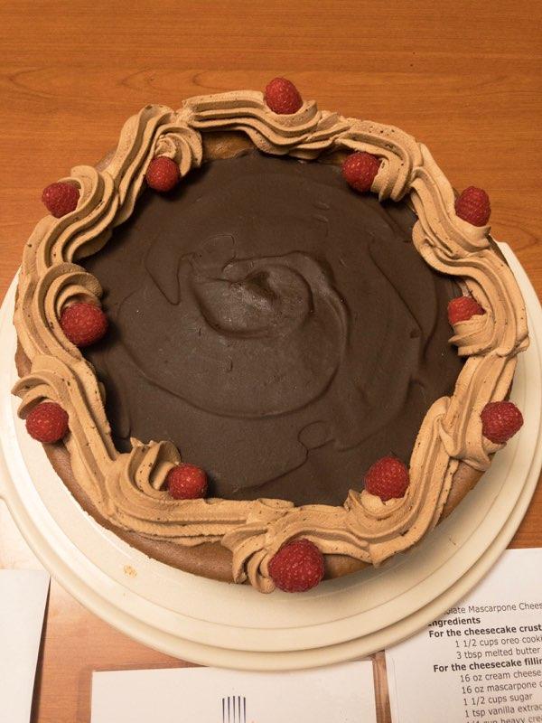 Channing Reinhard: Chocolate Marscapone Cheesecake