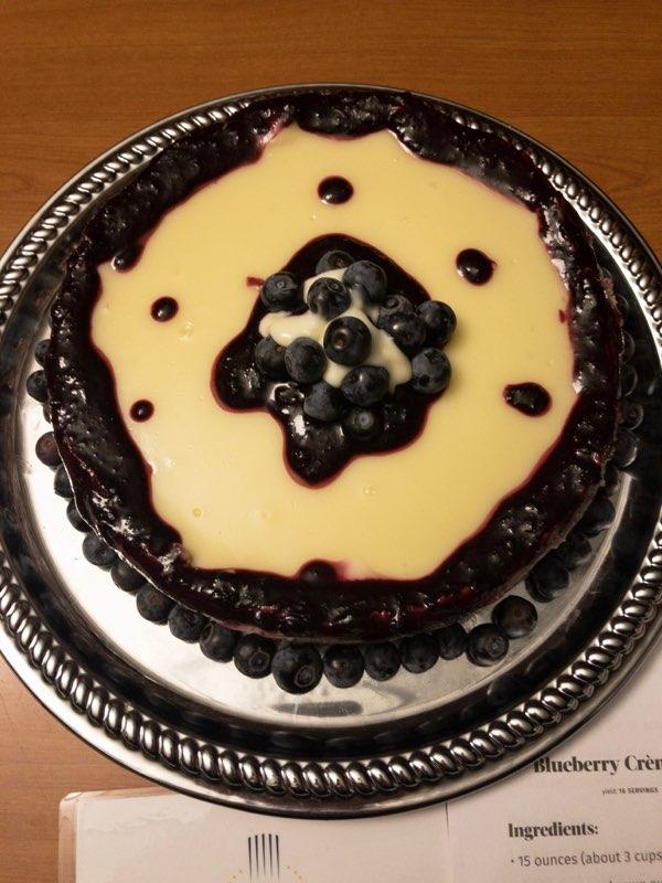 2nd place - Annamaria Esplen - Blueberry Crème Fraiche Cheesecake
