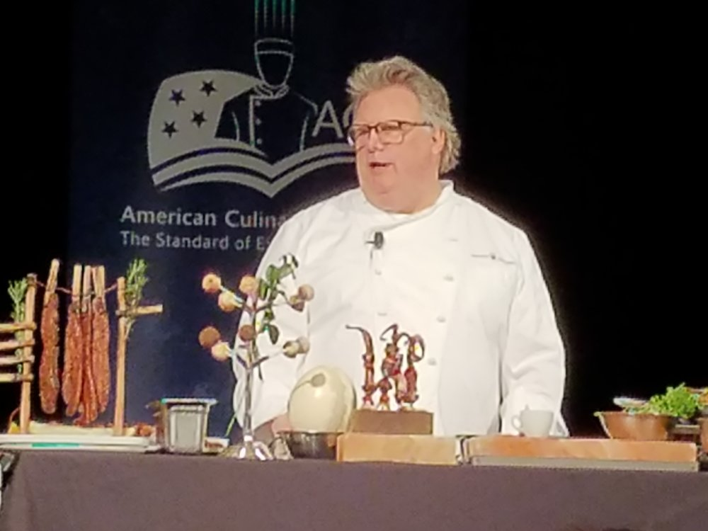 Chef David Burke presenting at Chef Connect