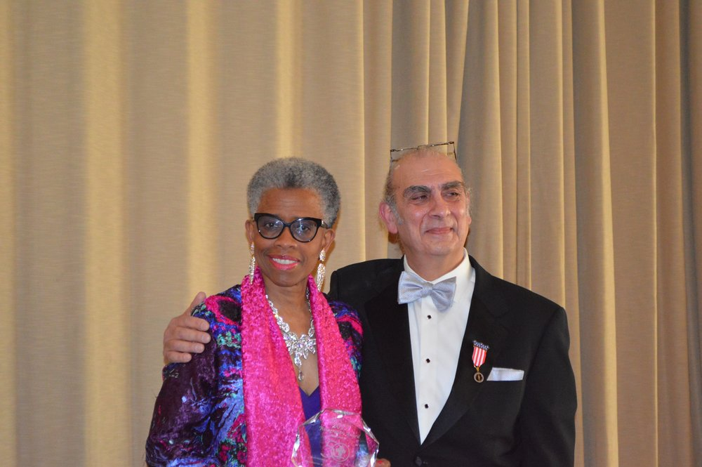 Valerie Njie, Executive Director, Bidwell Training Center, Outstanding Supporter of the Year with Rikk Panzera.jpg