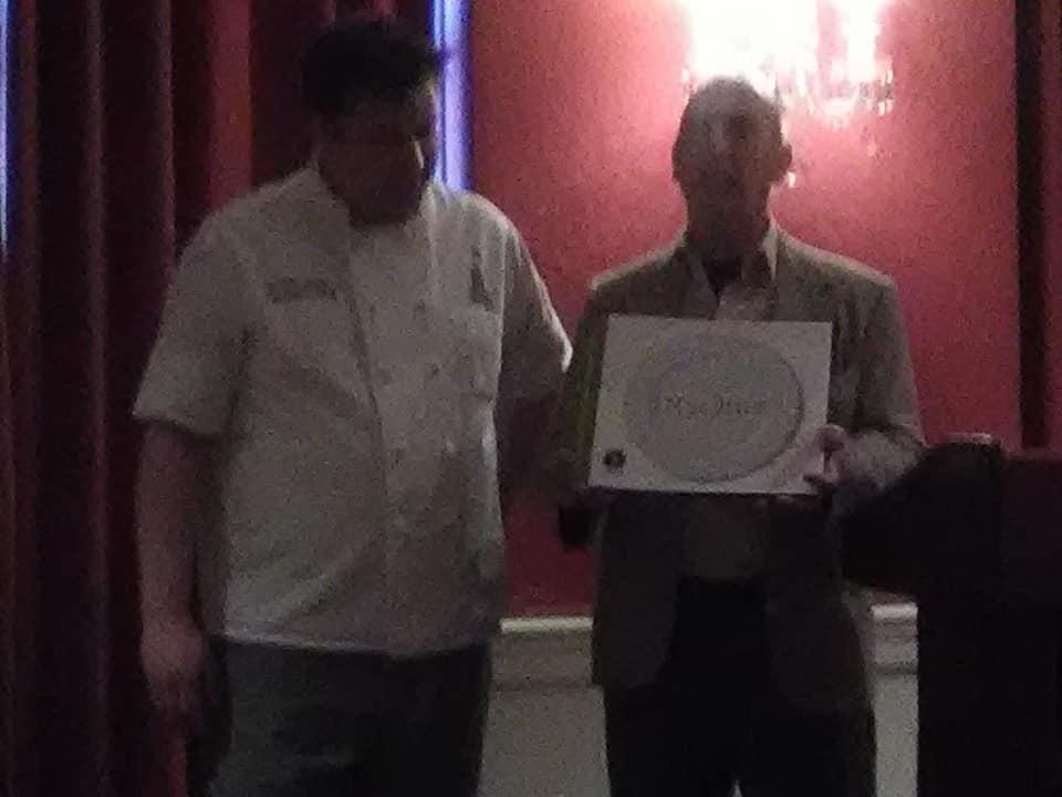 Rikk with Chef Justin Kolanz, photo credit Kathleen Garland