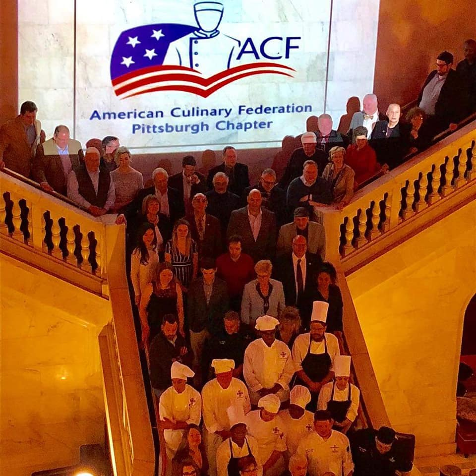 Photo of attendees at the ACF Pittsburgh Chapter Live Jazz Brunch at the Renaissance Hotel.  Photo courtesy of Scout Burkhart.