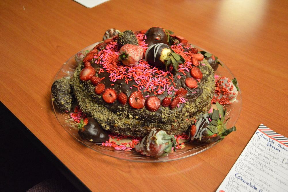 ¬Kathleen Garland, Bidwell Training Center (Chocolate Strawberry Dream with Chocolate Ganache)
