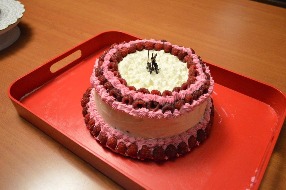 ¬Rebekah Shumsky, CCAC Culinary (White Vanilla Almond Cake with Raspberries)