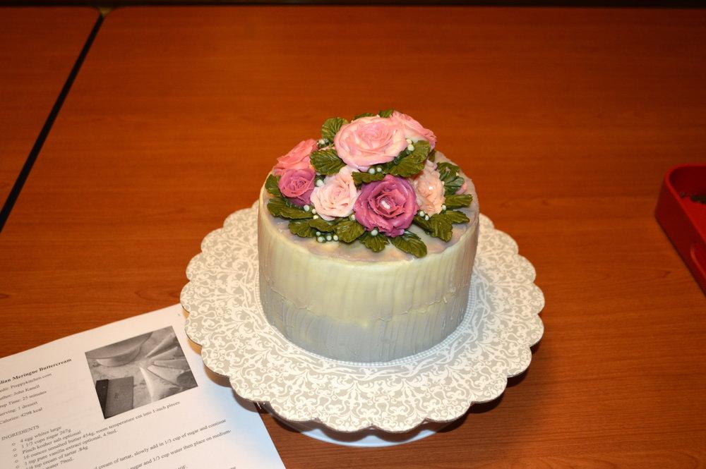 Trang Nguyen's first prize winning cake