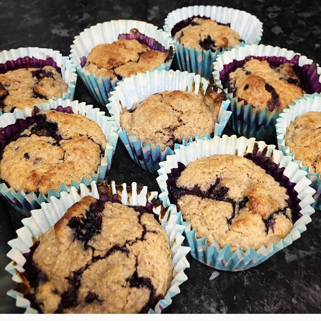 Because I love dessert and I promised this year I'd be good to myself... Gluten Free & Sugar Free Blueberry, Banana Muffins.  For recipe. Click the link in my bio  #glutenfree #sugarfree #muffins #dairyfree #blueberrymuffins #bananablueberrymuffins #muffins #cakes #healthycake #healthymuffins #2018goals #health #fitness #sugarfreemuffins #diabeticfood #simplynatel #simplynatural #babyfriendly