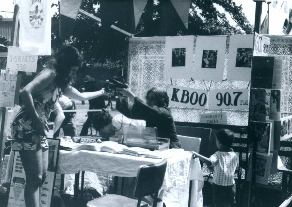 Exhibit  - What are we doing? What does 50 years of community building and radio making look like? Find out by joining us at our 6 month exhibit, created in partnership with the Oregon Historical Society.