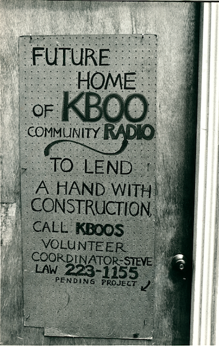 KBOO sign construction.png