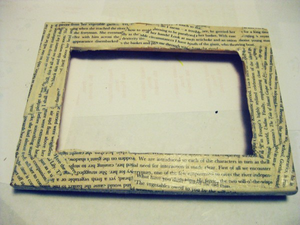 Book Page Picture Frame
