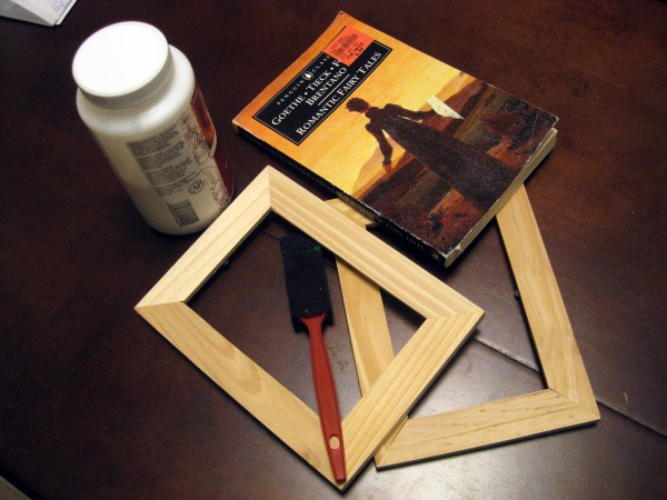 Book Page Picture Frame_materials