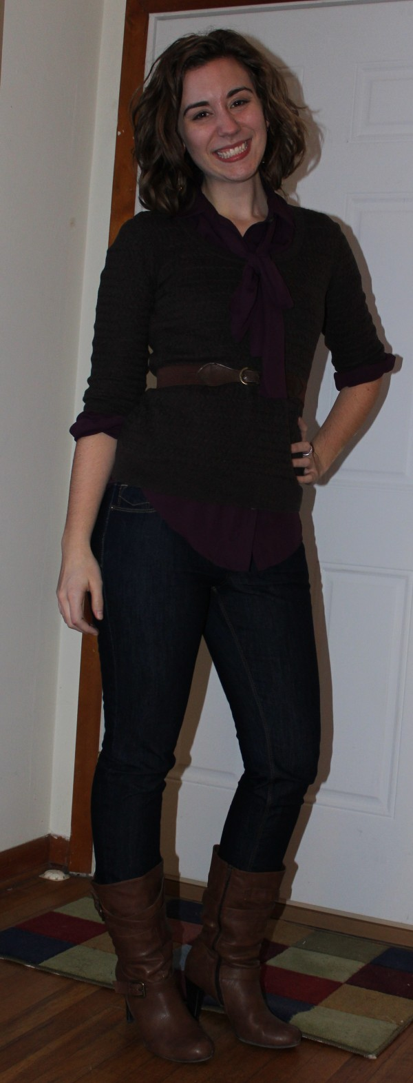 Layering with Bow-Tie Blouses 2