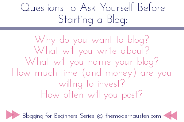 questions to ask before starting a blog