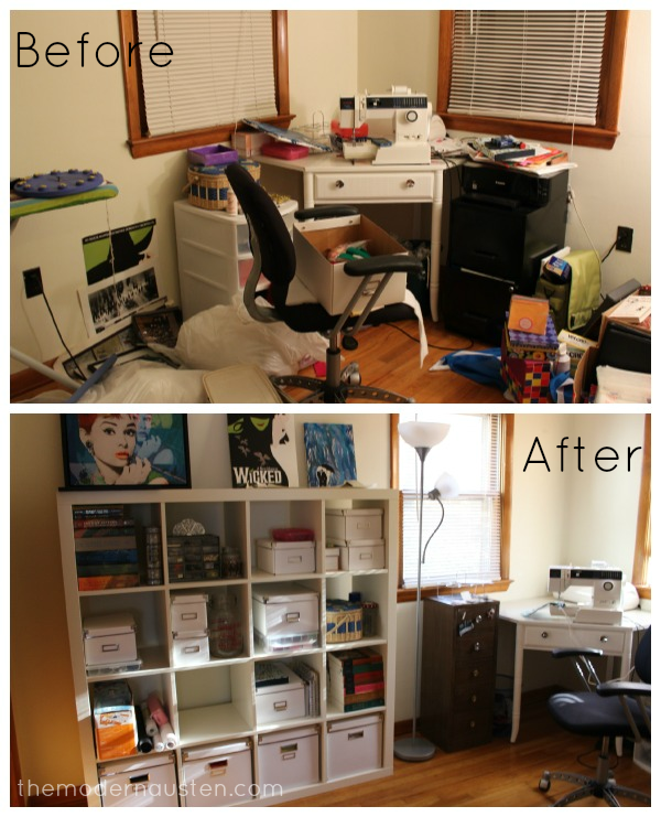 Craft Room_before and after