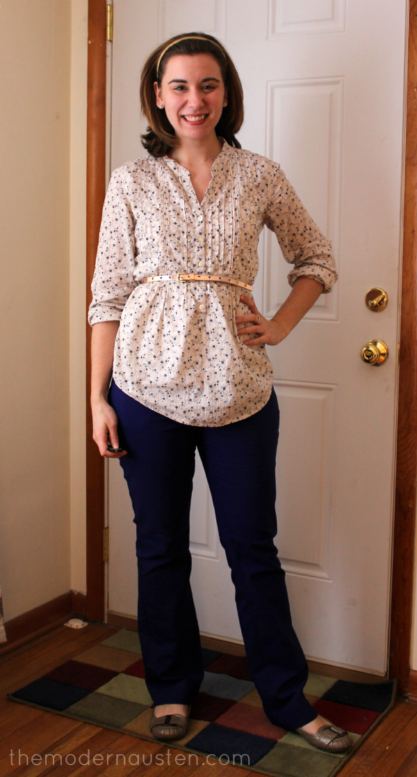 Floral Tunic Purple Pants