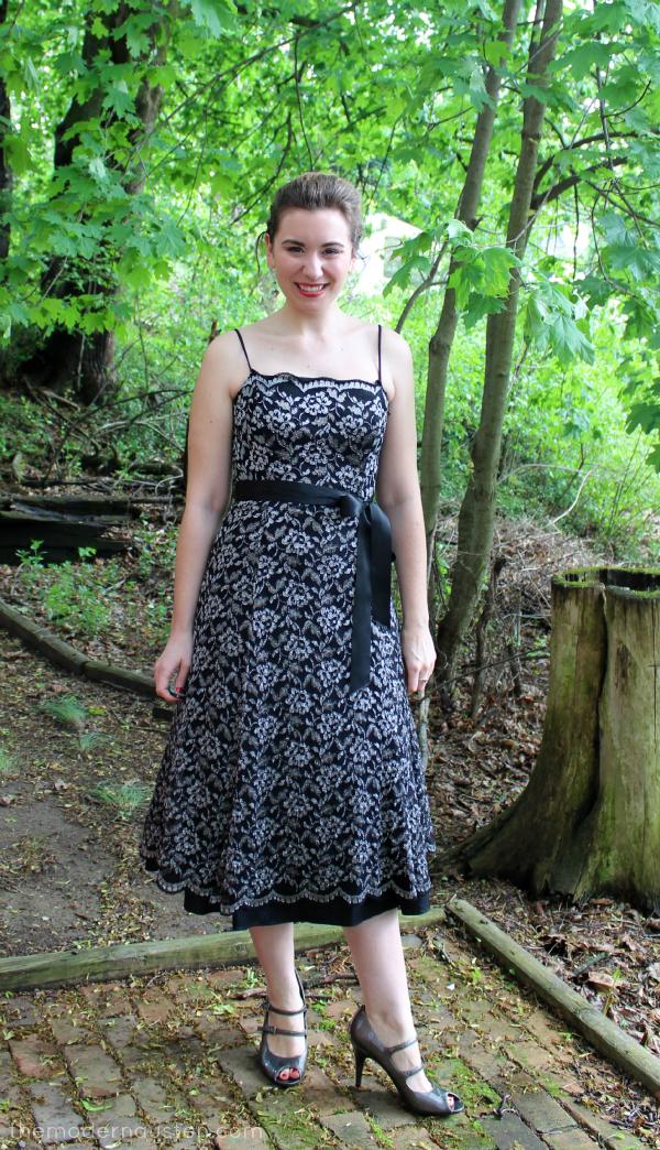 Senior Ball Chaperone Black Lace Dress 1