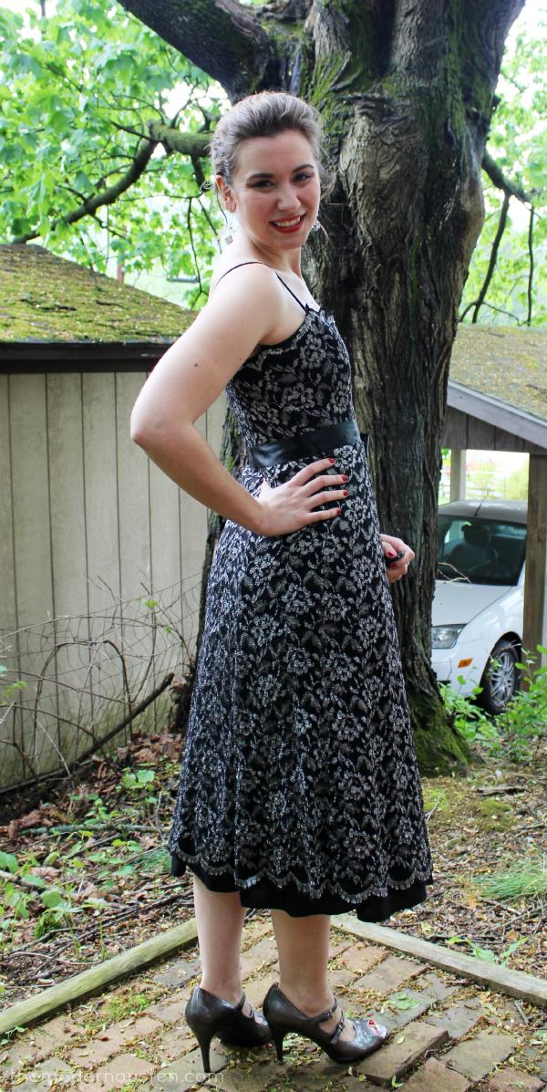 Senior Ball Chaperone Black Lace Dress 3