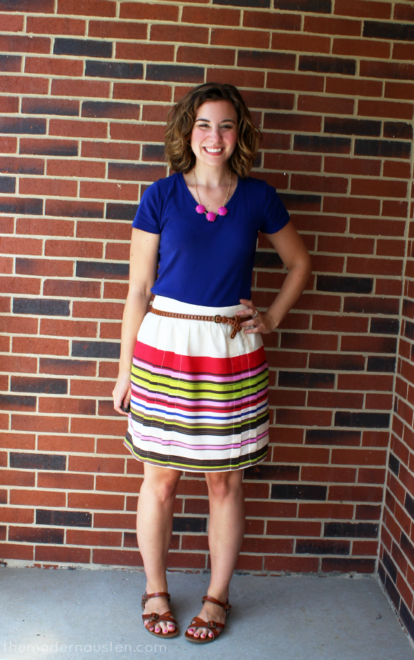 LOFT Striped Skirt and tee 1