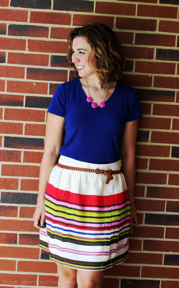 LOFT Striped Skirt and tee 2