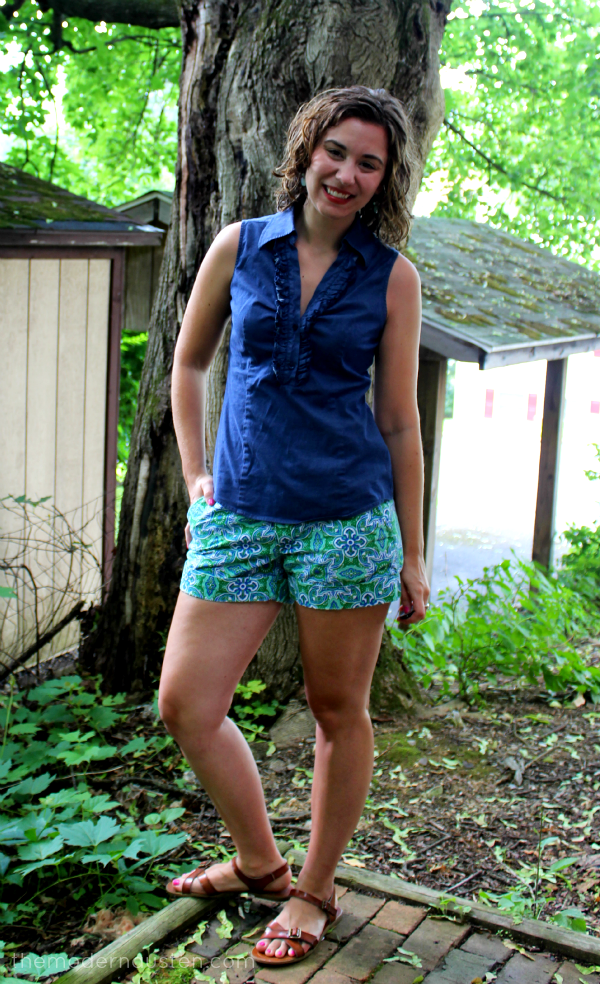 Summer Chambray and Printed Shorts 1