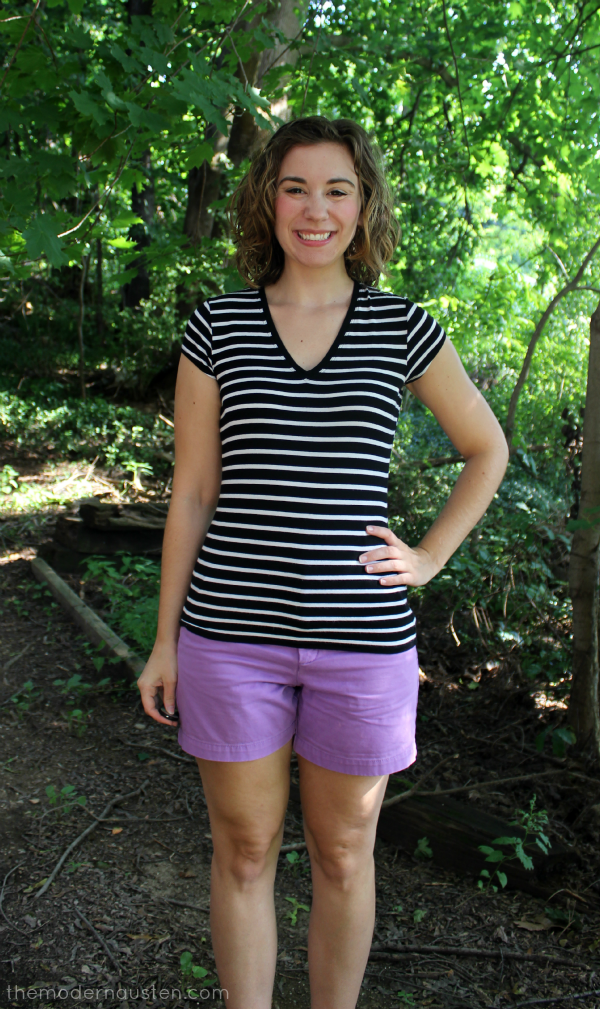 Striped Tee Purple Shorts_ Plain to Put Together 1
