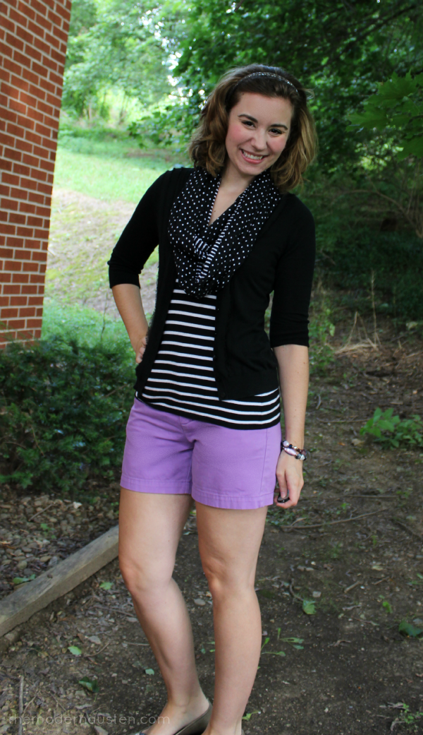 Striped Tee Purple Shorts_ Plain to Put Together 2