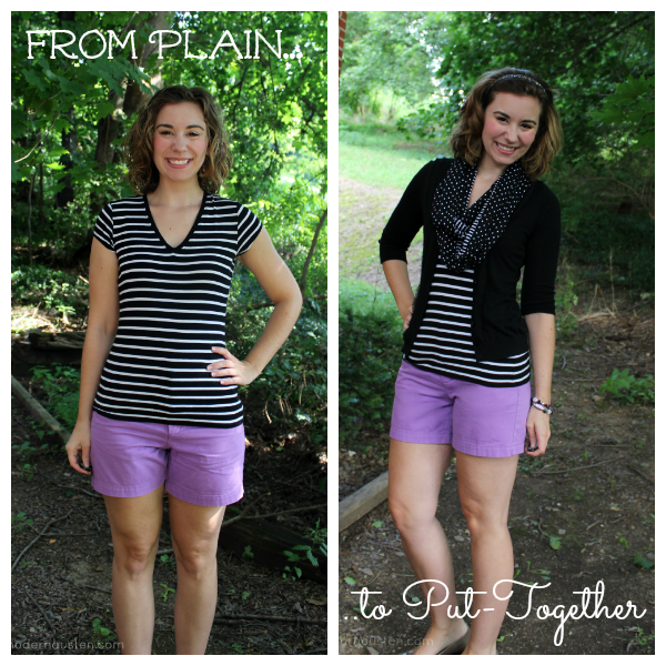 Striped Tee Purple Shorts_ Plain to Put Together 4