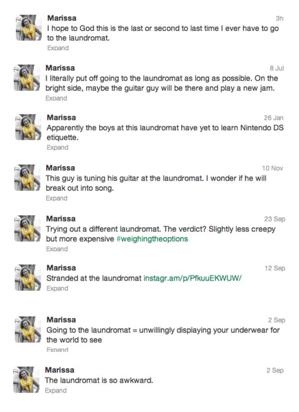 Laundromat Tweets