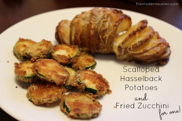 Scalloped Hasselback Potatoes and Fried Zucchini 1
