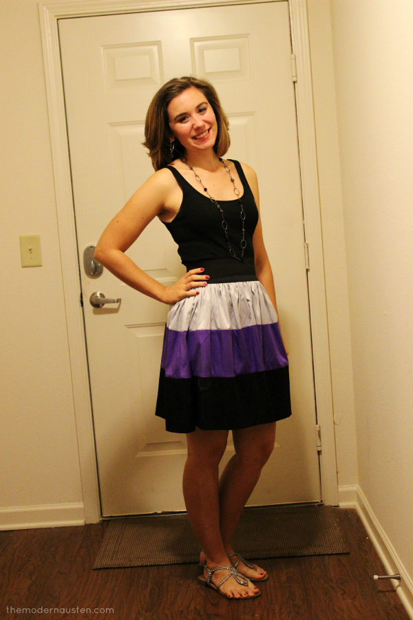 Black Colorblock Skirt 1