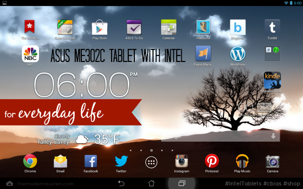 Asus ME302c Tablet with Intel for Everyday Life #IntelTablets #cbias #shop