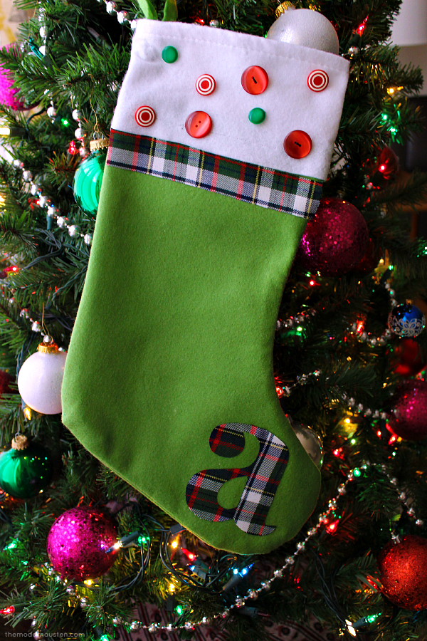 DIY Inexpensive Holiday Stocking 2 After